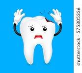 broken tooth character. funny...   Shutterstock .eps vector #575305336