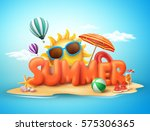 summer vector banner design... | Shutterstock .eps vector #575306365