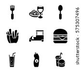 fastfood icon. set of 9...   Shutterstock .eps vector #575307496