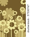 abstract background with floral ... | Shutterstock . vector #57530767