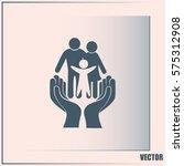 family life insurance sign icon.... | Shutterstock .eps vector #575312908
