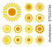 set of daisy icons isolated.... | Shutterstock .eps vector #575313766