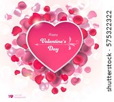 valentine's day. abstract... | Shutterstock .eps vector #575322322