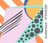 geometric pattern in memphis... | Shutterstock .eps vector #575335282