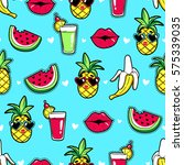 tropic seamless pattern with... | Shutterstock .eps vector #575339035