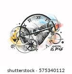 abstraction of a clockwork  a... | Shutterstock .eps vector #575340112