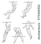 set of street workout and... | Shutterstock .eps vector #575340502
