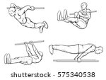 set of street workout and... | Shutterstock .eps vector #575340538