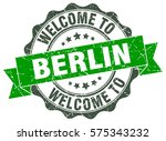 berlin. welcome to berlin stamp | Shutterstock .eps vector #575343232