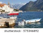 ancient mediterranean town at... | Shutterstock . vector #575346892
