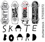 skate board typography  t shirt ... | Shutterstock .eps vector #575350372