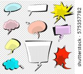 comic icons speech bubble... | Shutterstock .eps vector #575357782