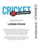 cricket tournament poster idea. ... | Shutterstock .eps vector #575369872