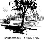 ink illustration of growing... | Shutterstock .eps vector #575374702