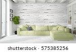 modern bright interior . 3d...   Shutterstock . vector #575385256