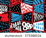 colorful seamless pattern in...