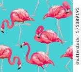 tropical bird flamingo... | Shutterstock .eps vector #575389192