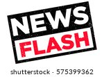 news flash rubber stamp vector. ... | Shutterstock .eps vector #575399362