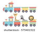 cute isolated train in two... | Shutterstock .eps vector #575401522