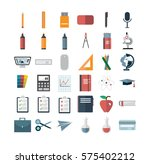 various vector icon set against ... | Shutterstock .eps vector #575402212