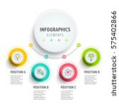 circle infographics elements... | Shutterstock .eps vector #575402866
