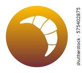 croissant simple sign. white... | Shutterstock .eps vector #575402875