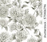 seamless pattern with flowers.... | Shutterstock . vector #575406796