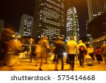 blurred light motion people... | Shutterstock . vector #575414668