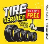 vintage tire service or garage... | Shutterstock .eps vector #575417902