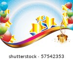 colorful brightly backdrop with ... | Shutterstock . vector #57542353