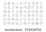 set vector line icons  sign in... | Shutterstock .eps vector #575428702