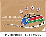 car icon made from the flag of... | Shutterstock .eps vector #575434996