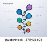 infographics timeline template... | Shutterstock .eps vector #575438605