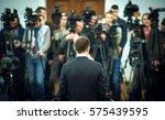 press conference. public...   Shutterstock . vector #575439595