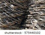 steel bar close up | Shutterstock . vector #575440102