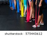 low section of athletes... | Shutterstock . vector #575443612
