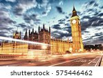 london  uk. beautiful sunset... | Shutterstock . vector #575446462