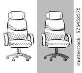 office chair chair vector... | Shutterstock .eps vector #575453575
