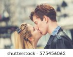 couple enjoying in urban... | Shutterstock . vector #575456062