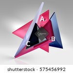3d triangle modern composition. ... | Shutterstock .eps vector #575456992