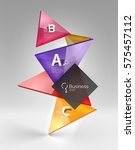 3d triangle modern composition. ... | Shutterstock .eps vector #575457112