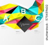 triangle mosaic vector abstract ... | Shutterstock .eps vector #575459602