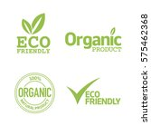 set of eco friendly and organic ... | Shutterstock .eps vector #575462368