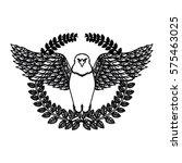 emblem eagle sign icon imge ... | Shutterstock .eps vector #575463025