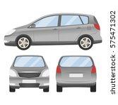 grey silver car vector template.... | Shutterstock .eps vector #575471302