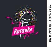 vector logo karaoke | Shutterstock .eps vector #575471632