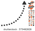 dotted growth line pictograph... | Shutterstock .eps vector #575482828