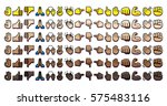 vector set of different hand... | Shutterstock .eps vector #575483116