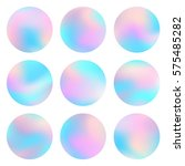 holographic round frames set.... | Shutterstock .eps vector #575485282