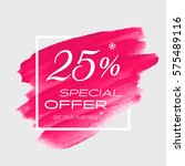 sale special offer 25  off sign ... | Shutterstock .eps vector #575489116